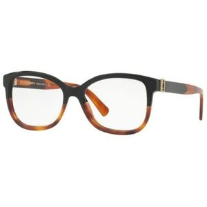 Burberry Eyeglasses Black/Havana w/Demo Lens
